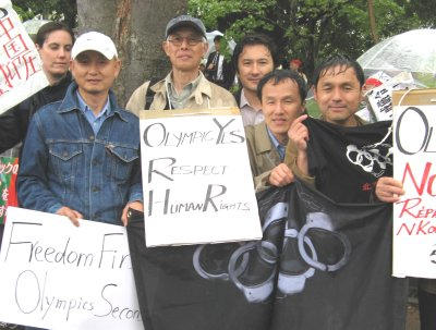 LFNKR joins protesters at Nagano Olympic Torch Relay