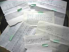 A stack of letters from LFNKR's foster children in China