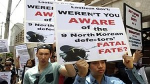 Demonstrators protest Lao's repatriation of 9 orphans