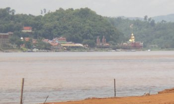 Looking across the Mekong River from the Laos side.