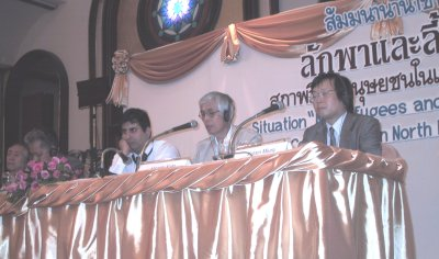 Mr. Kato Hiroshi (center), Executive Director of Life Funds for North Korean Refugees (LFNKR), discusses Chinese government action on refugees and North Korean crimes against humanity.